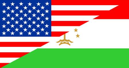 tajikistan: usa america Tajikistan half country language flag