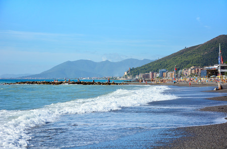 Loano town liguria italy Mediterranean Sea shore Banco de Imagens