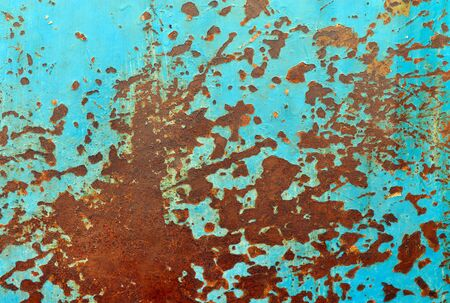 metal sheet: rusty blue metal sheet grunge texture pattern