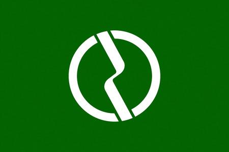 tokyo prefecture: Japan Tokyo prefecture Fuchu city flag illustration Editorial