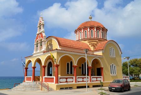 rethymno: Rethymno city Greece Greek Orthodox church landmark architecture