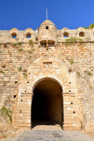 rethymno: Rethymno city Greece Fortezza fortress main gate landmark architecture