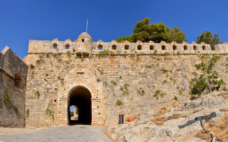 fortezza: Rethymno city Greece Fortezza fortress main gate landmark architecture