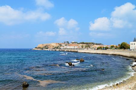 rethymno: Rethymno city Crete Greece seashore panorama view