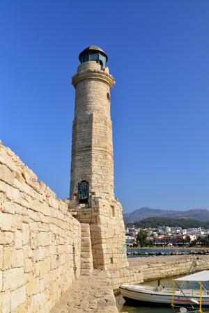 rethymno: Rethymno city Greece light house landmark architecture
