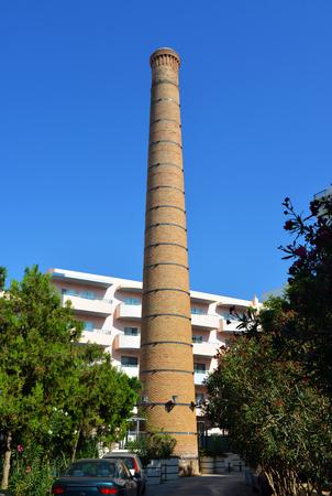 rethymno: Rethymno city Greece industrial tower landmark architecture Stock Photo
