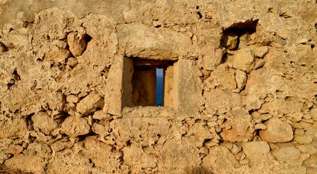 fortezza: Rethymno city Greece Fortezza fortress wall window detail