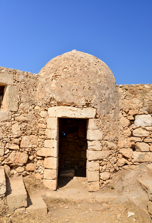 fortezza: Rethymno city Greece Fortezza fortress landmark detail