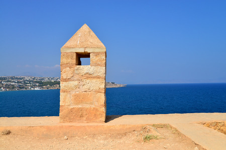 fortezza: Rethymno city Greece view from Fortezza fortress landmark Editorial