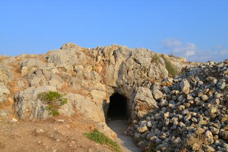 fortezza: Rethymno city Greece Fortezza fortress landmark cave Stock Photo