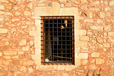 fortezza: Rethymno city Greece Fortezza fortress window detail