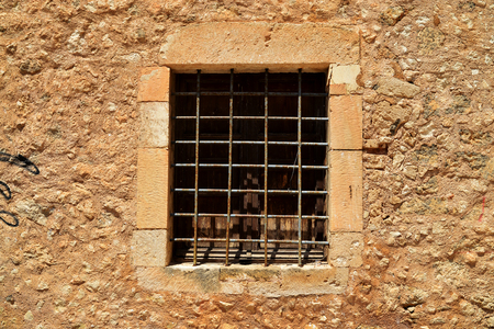 rethymno: Rethymno city Greece Mosque Neratzes window detail