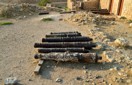 fortezza: Rethymno city Greece Fortezza fortress armory cannons