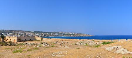 fortezza: Rethymno city Greece Fortezza fortress panorama landmark architecture
