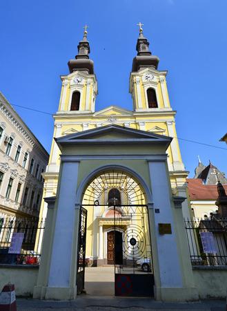 serbian: timisoara city romania serbian church landmark architecture