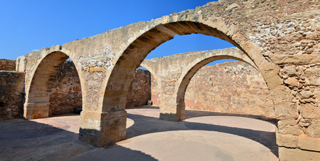 Rethymno city Greece Fortezza ruins fortress landmark architecture