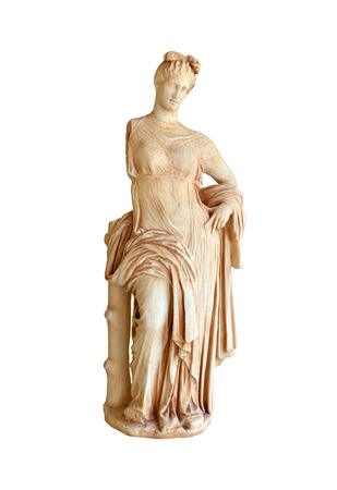 aphrodite: Greek Statue of Aphrodite the goddess of love isolated over white Stock Photo