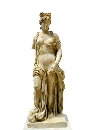the aphrodite: Griega Estatua de Afrodita la diosa del amor aislado más de blanco