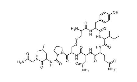 oxytocin: oxytocin chemical formula science symbol elements reaction