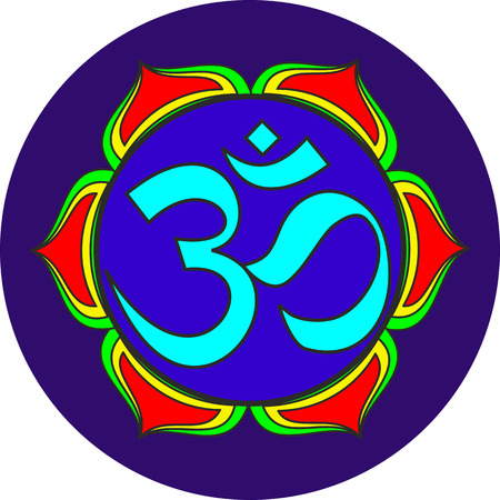 Indian Dharmic religion om sacred sound symbol