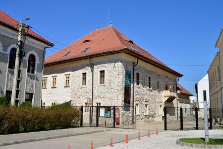 turda: TURDA, ROMANIA - 04.04.2017: history museum landmark architecture and princely palace