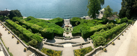 Lake Como Villa Carlotta Italy landmark garden panorama Stock Photo
