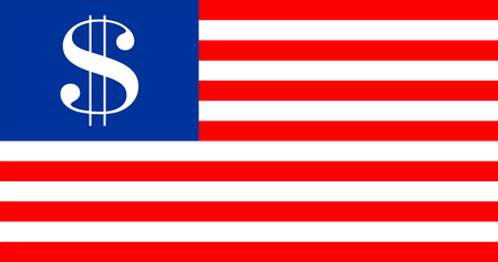 united states of america country dollar symbol flag