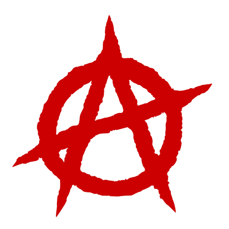Anarchy symbol red punk music culture sign