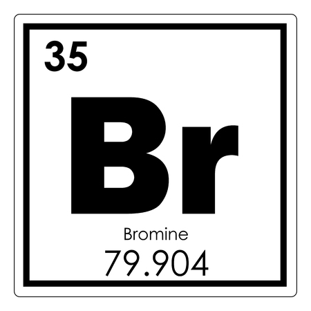 Bromine Chemical Element Periodic Table Science Symbol Stock Photo