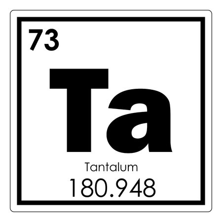 Tantalum Chemical Element Periodic Table Science Symbol Stock Photo