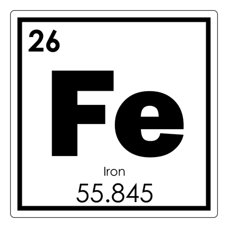 Iron chemical element periodic table science symbol Фото со стока