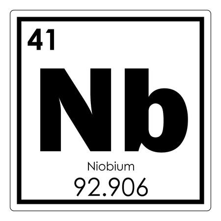 Niobium chemical element periodic table science symbol Stock Photo