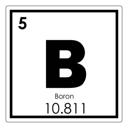 Boron chemical element periodic table science symbol