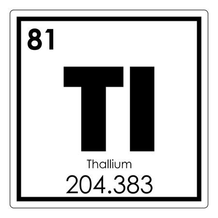 Thallium Chemical Element Periodic Table Science Symbol Stock Photo