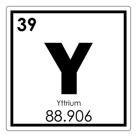 Yttrium chemical element periodic table science symbol