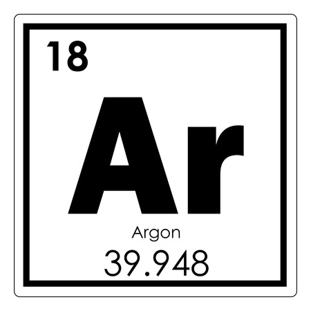 Argon chemical element periodic table science symbol