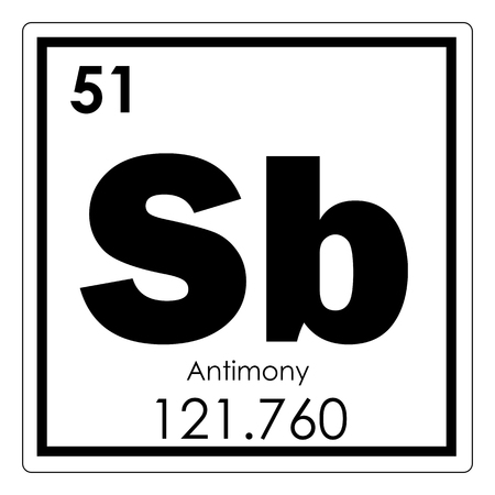 Antimony Chemical Element Periodic Table Science Symbol Stock Photo