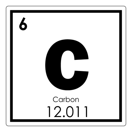 Carbon chemical element periodic table science symbol Banco de Imagens