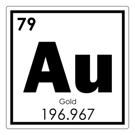 Gold chemical element periodic table science symbol