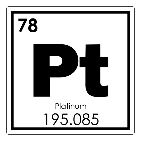 Platinum Chemical Element Periodic Table Science Symbol Stock Photo
