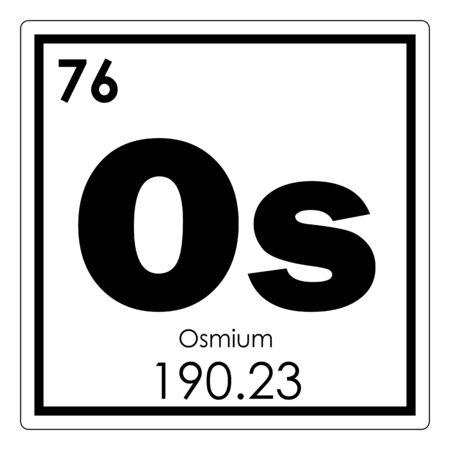 Osmium Chemical Element Periodic Table Science Symbol Stock Photo