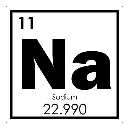 Sodium chemical element periodic table science symbol