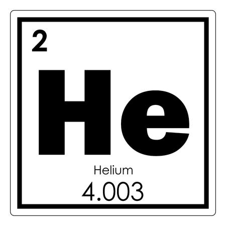 Helium chemical element periodic table science symbol