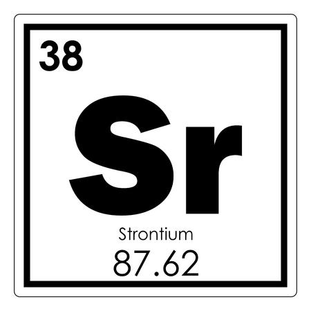 Strontium Chemical Element Periodic Table Science Symbol Stock Photo