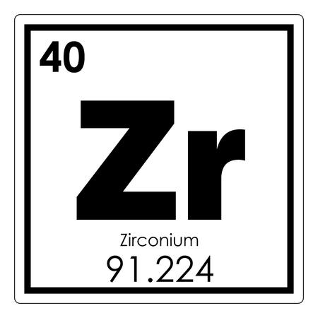 Zirconium chemical element periodic table science symbol stock photo zirconium chemical element periodic table science symbol photo urtaz Images