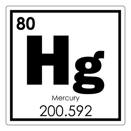 Mercury chemical element periodic table science symbol Stok Fotoğraf