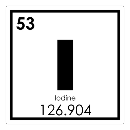 Iodine chemical element periodic table science symbol
