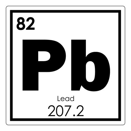 Lead chemical element periodic table science symbol