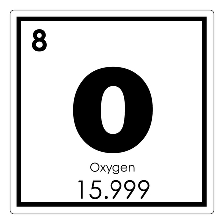 Oxygen chemical element periodic table science symbol