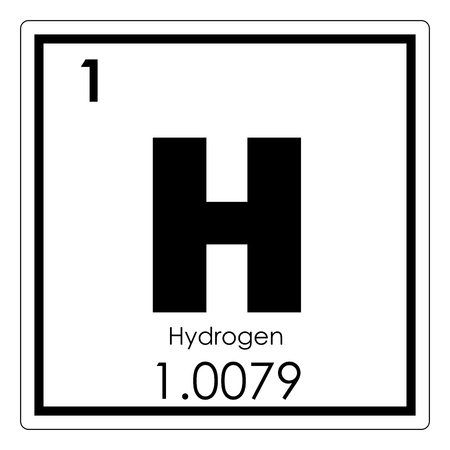 hydrogen chemical element periodic table science symbol